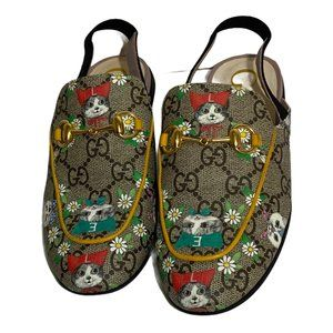 Gucci Girls Princetown Slingback Slip on Loafers